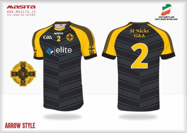 Image: St Nick's GAA, Bristol match kit